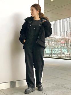 LINKS UMEDA店のhiroさんのALPHAの【決算SALE】ボア ミリタリージャケット レディースを使ったコーディネート