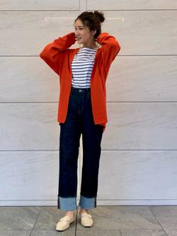 LINKS UMEDA店のhiroさんのSOMETHINGのSOMETHING バスクシャツを使ったコーディネート