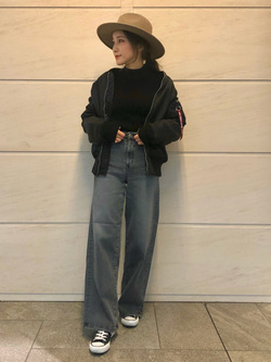LINKS UMEDA店のhiroさんののMA-1 タイト ジャケット【ユニセックス】を使ったコーディネート