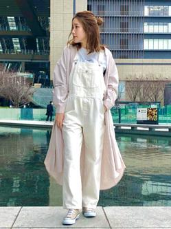 LINKS UMEDA店のhiroさんのSOMETHINGのSOMETHING TOKYO SOME GIRLS フレンチスリーブTシャツを使ったコーディネート