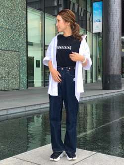 LINKS UMEDA店のhiroさんのEDWINの【サマーセール2】カジュアル ボタンダウンシャツ 半袖を使ったコーディネート