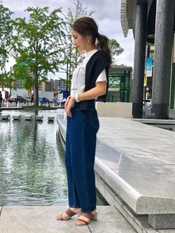LINKS UMEDA店のhiroさんのEDWINの終了【サマーセール】メッセージ Tシャツ 半袖を使ったコーディネート