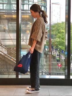 LINKS UMEDA店のhiroさんのSOMETHINGの【WDOT×SOMETHING 島袋聖南コラボモデル】TUCK TAPEREDを使ったコーディネート