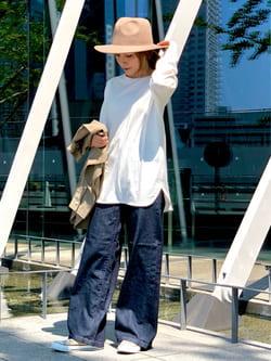 LINKS UMEDA店のhiroさんのEDWINのバックスリット ロングスリーブTシャツを使ったコーディネート