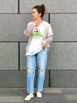 LINKS UMEDA店のhiroさんのEDWINの【EDWIN 60周年限定】 クルーネック 半袖Tシャツ Aを使ったコーディネート