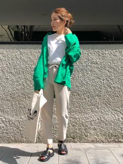 LINKS UMEDA店のhiroさんのEDWINの【CanCam 5月号掲載】EDWIN LADIES ジャージーズ イージーテーパードパンツを使ったコーディネート