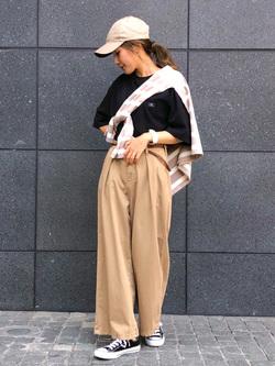 LINKS UMEDA店のhiroさんのC17のC17 ポケット ビッグTシャツを使ったコーディネート