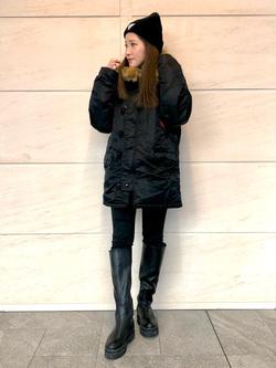 LINKS UMEDA店のhiroさんのの【試着対象】N-3B タイトジャケットを使ったコーディネート
