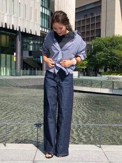 LINKS UMEDA店のhiroさんのEDWINの【シークレットセーール!!】ギンガムチェックシャツ 長袖を使ったコーディネート