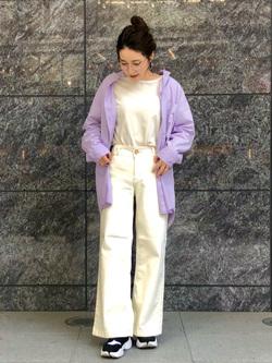 LINKS UMEDA店のhiroさんのSOMETHINGの【GISELe 3月号掲載】SOMETHING セーラーワイドパンツを使ったコーディネート