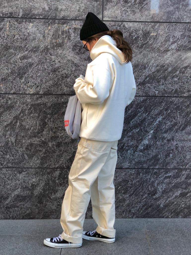 LINKS UMEDA店のhiroさんのEDWINのF.L.E パーカー(ダンボールニット)を使ったコーディネート