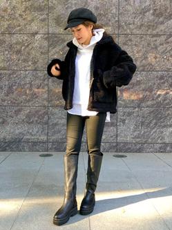 LINKS UMEDA店のhiroさんののボア ミリタリージャケット レディースを使ったコーディネート