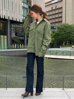 LINKS UMEDA店のhiroさんのEDWINのミリタリーシャツ 長袖(US NAVY CPO SHIRTSタイプ)を使ったコーディネート
