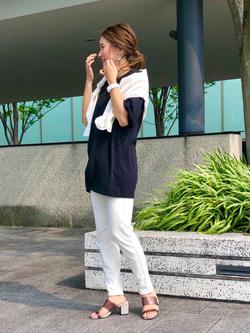 LINKS UMEDA店のhiroさんのEDWINの【直営店限定】【親子コーデができる】クルーネックポケットTシャツ 半袖 【110-180cm】を使ったコーディネート