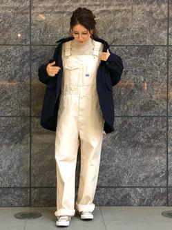 LINKS UMEDA店のhiroさんのEDWINの【直営店限定】オーバーオール【ユニセックス】を使ったコーディネート
