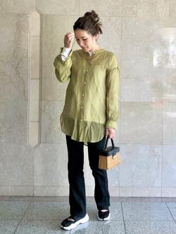 LINKS UMEDA店のhiroさんのEDWINのEDWIN LADIES ハタラクロ ブーツカットを使ったコーディネート
