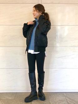 LINKS UMEDA店のhiroさんのALPHAのMA-1 タイト ジャケット【ユニセックス】を使ったコーディネート