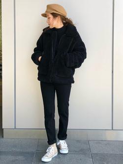 LINKS UMEDA店のhiroさんのの【再値下げ Winter sale】ボア ミリタリージャケット レディースを使ったコーディネート
