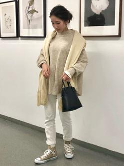 LINKS UMEDA店のhiroさんのEDWINの【Winter sale】EDWIN LADIES ラウンドヘム ロングスリーブTシャツを使ったコーディネート