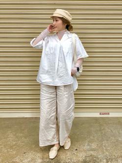 LINKS UMEDA店のhiroさんのC17のC17 Vネック Wポケットシャツを使ったコーディネート