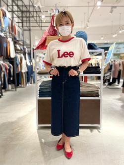 西宮ガーデンズ店のAnjuさんのLeeのリンガー 半袖Tシャツを使ったコーディネート