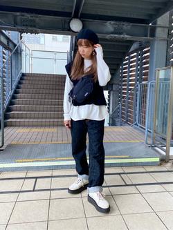 DENIM GALAXY日暮里店のChihiro.さんのEDWINのインターナショナルベーシック 404 ゆったりストレートを使ったコーディネート