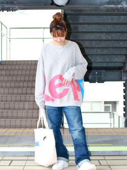 DENIM GALAXY日暮里店のChihiro.さんのEDWINの503 ルーズストレートを使ったコーディネート