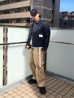 DENIM GALAXY日暮里店のChihiro.さんのEDWINの【再値下げ Winter sale】505 チノ ワイドストレートを使ったコーディネート
