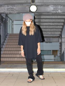 DENIM GALAXY日暮里店のChihiro.さんのC17のC17 スリット ビッグTシャツを使ったコーディネート