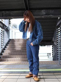 DENIM GALAXY日暮里店のChihiro.さんのEDWINのインターナショナルベーシック 403 ふつうのストレートを使ったコーディネート