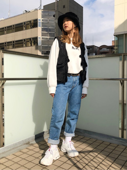 DENIM GALAXY日暮里店のChihiro.さんのEDWINのインターナショナルベーシック 407 ふつうのスリムを使ったコーディネート