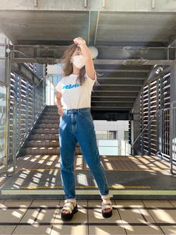 DENIM GALAXY日暮里店のChihiro.さんのSOMETHINGの【決算SALE】SOMETHING チビTシャツを使ったコーディネート