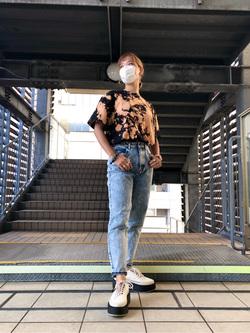 DENIM GALAXY日暮里店のChihiro.さんのSOMETHINGのSOMETHING W-FRONT ルーミースリムを使ったコーディネート