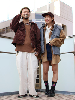 DENIM GALAXY日暮里店のChihiro.さんのEDWINの【通販限定】YELLOW TAB HAKAMAを使ったコーディネート