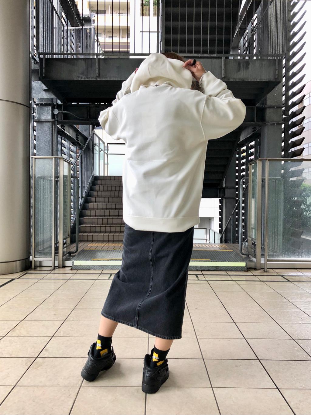 DENIM GALAXY日暮里店のChihiro.さんのEDWINのF.L.E パーカー(ダンボールニット)を使ったコーディネート