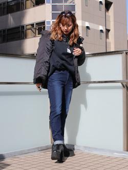 DENIM GALAXY日暮里店のChihiro.さんのEDWINの【試着対象】EDWIN LADIES ジャージーズ テーパード【スタンダードモデル】を使ったコーディネート