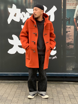 MINAMIHORIE店のカワノショウタさんのEDWINの【コンセプトショップ限定】DUFFEL COATを使ったコーディネート
