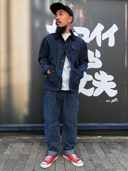 MINAMIHORIE店のカワノショウタさんのEDWINの【コンセプトショップ限定】INDIGO GARMENTS HUNTING JACKETを使ったコーディネート
