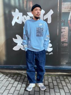 MINAMIHORIE店のカワノショウタさんのEDWINの【コンセプトショップ限定】EDWIN x reyn spooner CREW SWEAT SHIRTSを使ったコーディネート