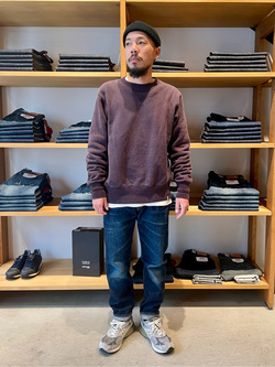 MINAMIHORIE店のカワノショウタさんのEDWINの【コンセプトショップ限定】CREW NECK SWEAT SHIRTSを使ったコーディネート
