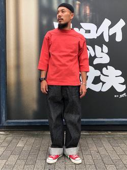 MINAMIHORIE店のカワノショウタさんのEDWINの【コンセプトショップ限定】FOOTBALL TEEを使ったコーディネート
