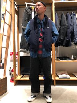 MINAMIHORIE店のカワノショウタさんのEDWINの【コンセプトショップ限定】F.L.E NAVY PACK  LEVEL7 VESTを使ったコーディネート