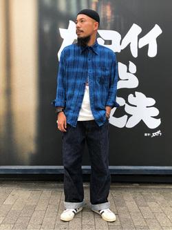 MINAMIHORIE店のカワノショウタさんのEDWINの【コンセプトショップ限定】INDIGO GARMENTS CHECK FLANNEL SHIRTSを使ったコーディネート