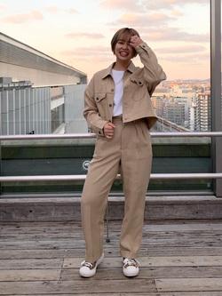 Lee アミュプラザ博多店のたまちゃんさんのLeeの【セットアップ対応】ジャケットを使ったコーディネート