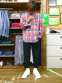 日暮里駅前店のKeisukeさんのEDWINのF.L.E ワイド テーパードを使ったコーディネート