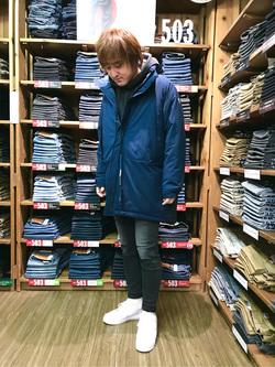 日暮里駅前店のKeisukeさんのEDWINのジャージーズ スキニー【スタンダードモデル】を使ったコーディネート