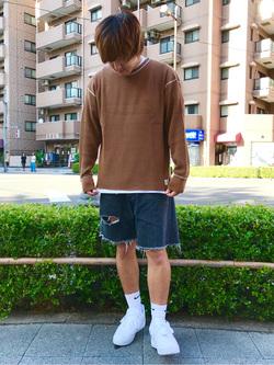 日暮里駅前店のKeisukeさんのEDWINのワッフル ロングスリーブTシャツを使ったコーディネート