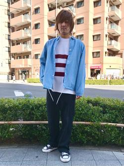 日暮里駅前店のKeisukeさんのEDWINのコーチジャケット (BOXフィット)を使ったコーディネート