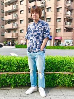 日暮里駅前店のKeisukeさんのEDWINのレギュラーテーパード デニムパンツ (アンクル丈)を使ったコーディネート