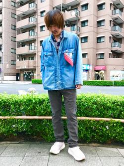 日暮里駅前店のKeisukeさんのEDWINのジャージーズ チノ スリムテーパードを使ったコーディネート